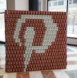 Voedselbeeldhouwwerk bij de 21ste Jaarlijkse concurrentie van NYC Canstruction in New York wordt voorgesteld dat Royalty-vrije Stock Afbeelding