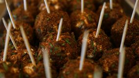 Voedselbol Vegetarisch voedsel stock footage