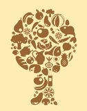 Voedselboom Royalty-vrije Stock Fotografie