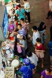 Voedselbox bij de Warorot-markt, Chiang Mai, Thailand Royalty-vrije Stock Afbeeldingen