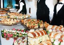 voedselbuffet bij een partij Royalty-vrije Stock Afbeelding