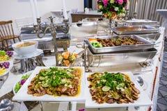 Voedselbuffet in Thailand stock foto's