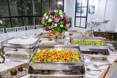 Voedselbuffet in Thailand stock afbeelding