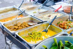 Voedselbuffet in Thailand royalty-vrije stock foto