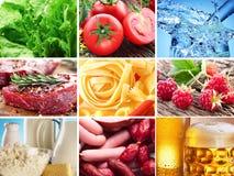 Voedselcollage. royalty-vrije stock afbeelding