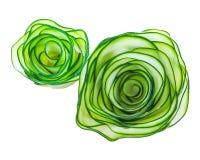 Voedseldecoratie van gesneden komkommer Royalty-vrije Stock Foto