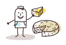 Voedseldetailhandelaar - kaas vector illustratie