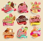 Voedseletiket en Sticker Stock Afbeeldingen