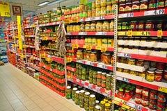 Voedselhypermarket Royalty-vrije Stock Afbeeldingen