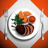 Voedselillustratie Royalty-vrije Stock Foto