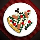Voedselillustratie Stock Foto