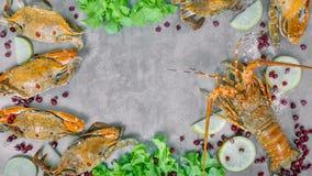 Voedselkader met schaaldier Royalty-vrije Stock Fotografie
