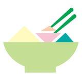voedselkom met twee stokken vector illustratie