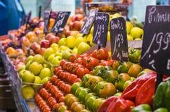 Voedselmarkt Barcelona Stock Foto