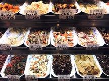 Voedselmarkt, Japan, Kyoto stock foto's