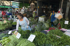 Voedselmarkten in Bangkok Stock Fotografie