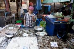 Voedselmarkten in Bangkok Stock Foto's
