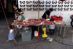 Voedselmarkten in Bangkok Royalty-vrije Stock Afbeelding