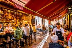 Voedselmarkten in Bologna stock afbeeldingen