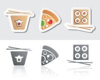 Voedselpictogrammen Stock Afbeelding