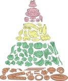 Voedselpiramide stock illustratie