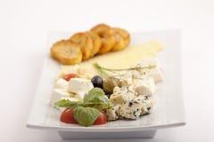 Voedselplaat appeteizer stock foto's