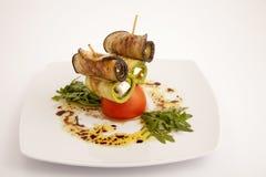 Voedselplaat appeteizer Stock Foto