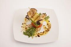 Voedselplaat appeteizer Royalty-vrije Stock Foto