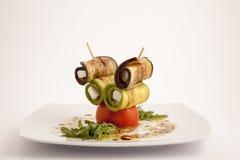Voedselplaat appeteizer stock afbeeldingen