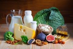Voedselrijken in calcium stock fotografie