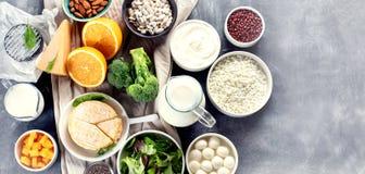 Voedselrijken in calcium royalty-vrije stock fotografie