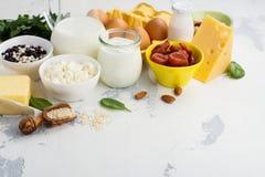 Voedselrijken van calcium royalty-vrije stock foto