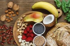 Voedselrijken in vezel Stock Fotografie
