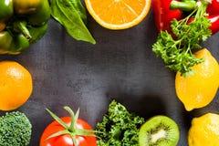 Voedselrijken in vitamine C royalty-vrije stock afbeeldingen
