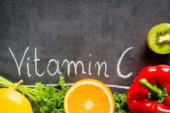 Voedselrijken in vitamine C royalty-vrije stock fotografie