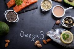 Voedselrijken in vitamine D en Omega 3 royalty-vrije stock fotografie