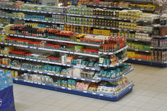 Voedselsupermarkt Royalty-vrije Stock Foto