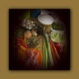 Voedselvoorbereiding voor het chef-kokdiner Royalty-vrije Stock Afbeelding