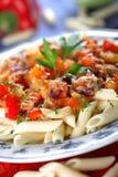 Voedzame maaltijd Stock Afbeeldingen