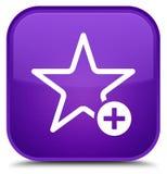 Voeg aan favoriete pictogram speciale purpere vierkante knoop toe Royalty-vrije Stock Afbeeldingen