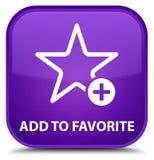 Voeg aan favoriete speciale purpere vierkante knoop toe Royalty-vrije Stock Afbeeldingen