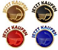 JETZT KAUFEN - reeks Duitse Webknopen Royalty-vrije Stock Afbeeldingen