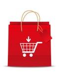 Het shoping pictogram van de kar vector illustratie