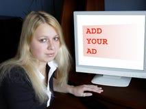 Voeg uw advertentie toe stock foto