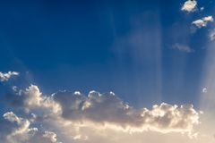 Voel in hemel stock afbeeldingen