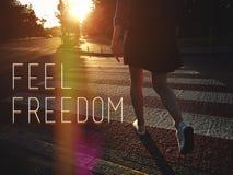 Voel vrijheid Royalty-vrije Stock Foto's