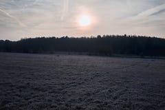 Voeltendorf im Winter Stockfotos