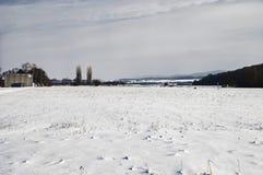 Voeltendorf w zimie Zdjęcia Stock