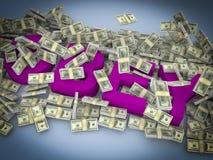 Voer geld uit Stock Foto's