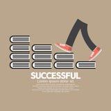 Voer het Lopen op Boeken Succesvol Concept op Royalty-vrije Stock Afbeelding